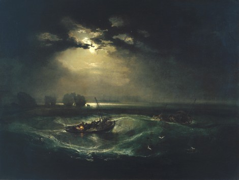 Joseph Mallord William Turner, Fishermen at Sea exhibited 1796