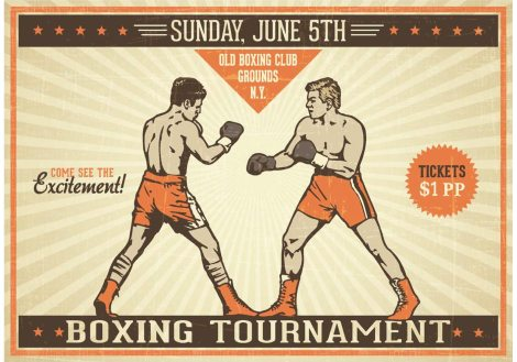 free-boxing-vintage-vector-poster